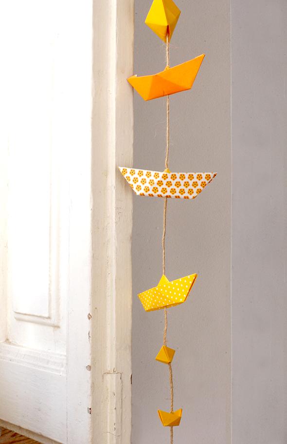 Origami-Boote / Barcos de origami / Origami boats