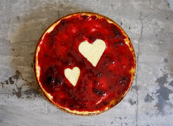 Valentinstags Kuchen /Tarta de San Valentin / Valentins day cake