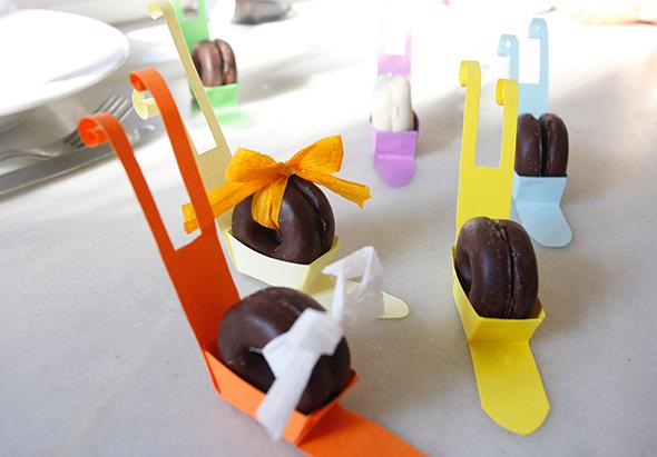 schnecken ostern pascua easter deco deko mesa tisch table origami sencillo facil einfach papier papel paper