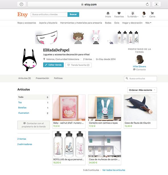 Etsy anuncio tienda online laden online shop