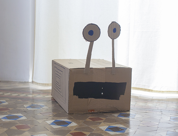 monster carton cardboard karton bestia monstruo craft basteln manualidad kids kinder ninos