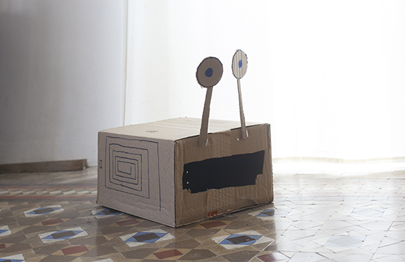 monster  spiel carton cardboard karton bestia monstruo craft basteln manualidad kids kinder ninos