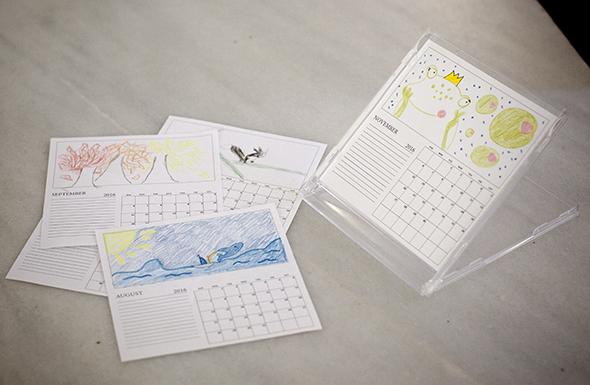 calendar cd kalender calendario imprimible printable drucken kinder kids ninos regalo present pintar malen
