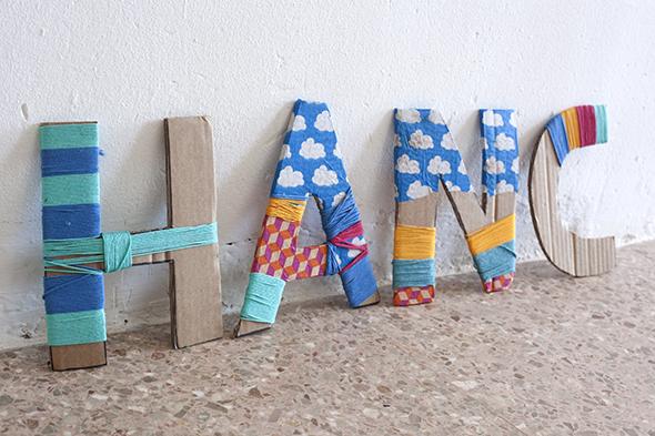 letras nombre carton cardboard letter kids ninos kinder buchstaben karton deco deko